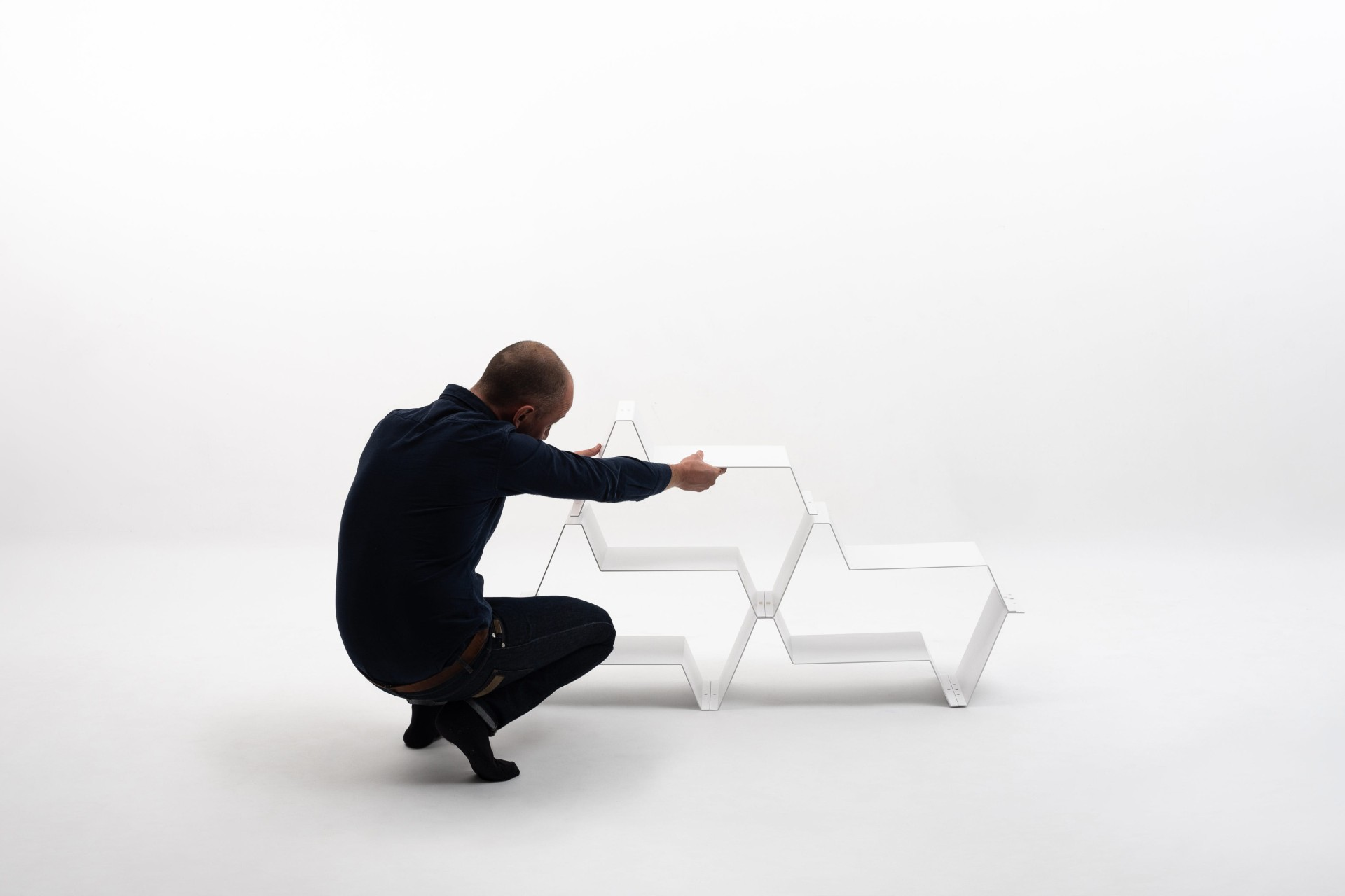 Regał modułowy FREQUENCE bookcase by Jean Couvreur | KATABA